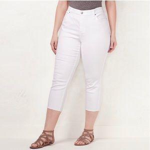 LC Lauren Conrad Plus Size Capri Skinny Jeans 16 W
